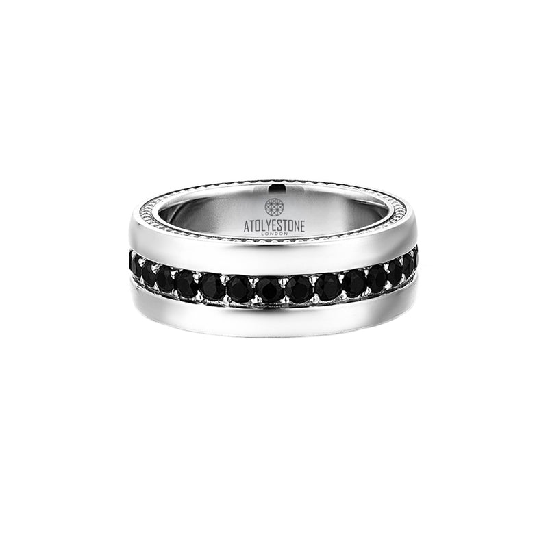 8.5 mm Pave Band Ring for Men