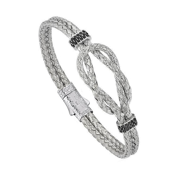 Mens Artillery Bangle - Silver - White Gold