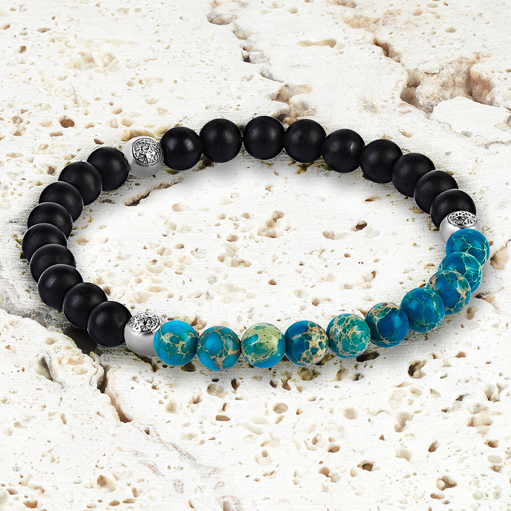Women Agate Beaded Bracelet - Micro