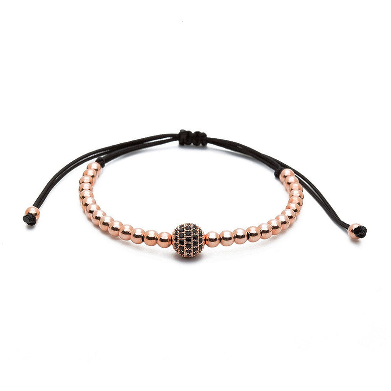 Women's Solitaire Macrame - Rose Gold