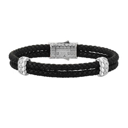Diamond Elements Leather Bracelet