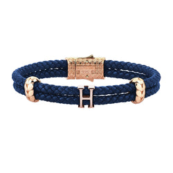 Women's Atolyestone Statement - Rose Gold - Blue Leather