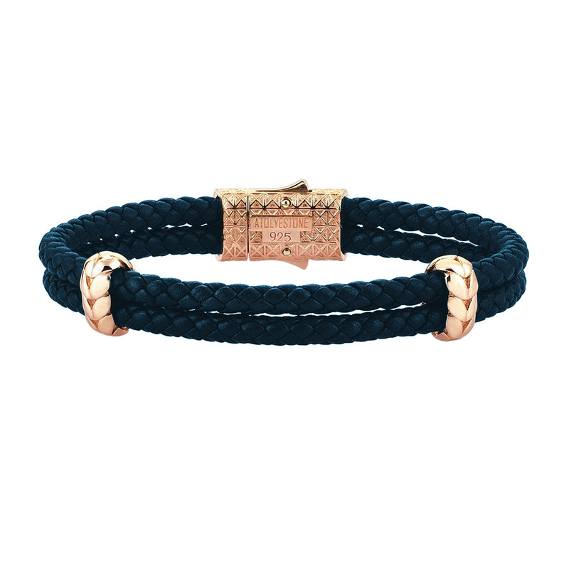 Atolyestone Elements - Rose Gold - Navy Nappa
