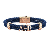 Atolyestone Statements - Solid Rose Gold - Blue Leather