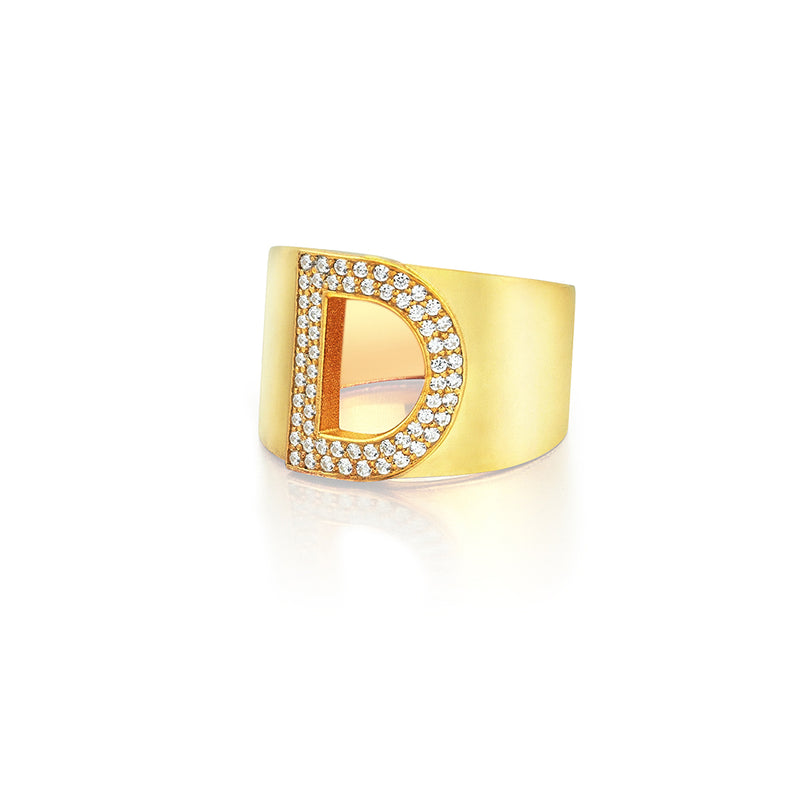 Women's Personalized Ring - Yellow Gold