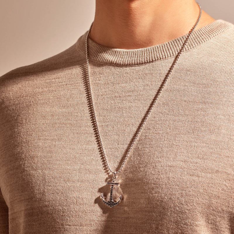 Anchor Necklace - Solid Gold (Pendant Only)