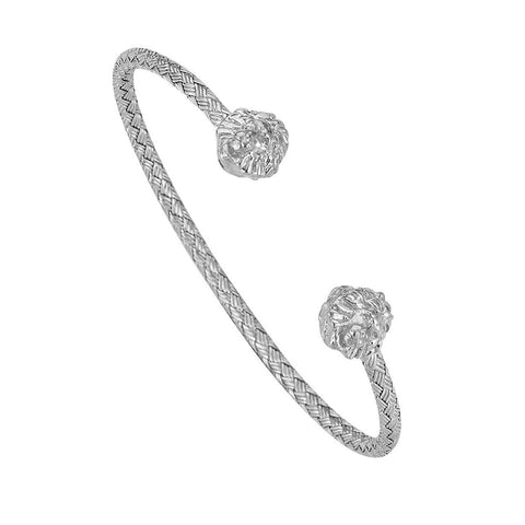 Imperial Classic Macrame Bracelet - Solid Silver