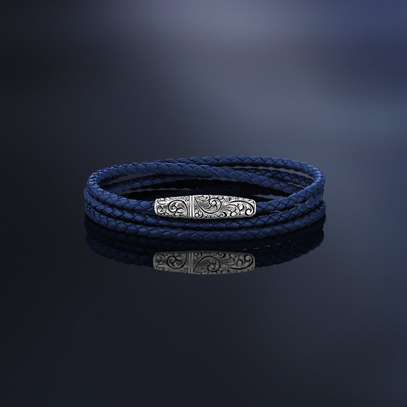 Classic Wrap Leather Bracelet With Premium Italian Nappa Leather
