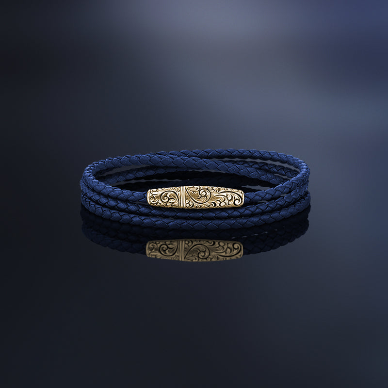 Classic Wrap Leather Bracelet With 3mm Nappa Leather