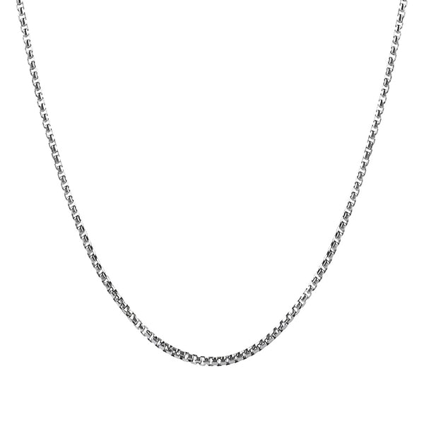 Box Necklace Chain in Silver