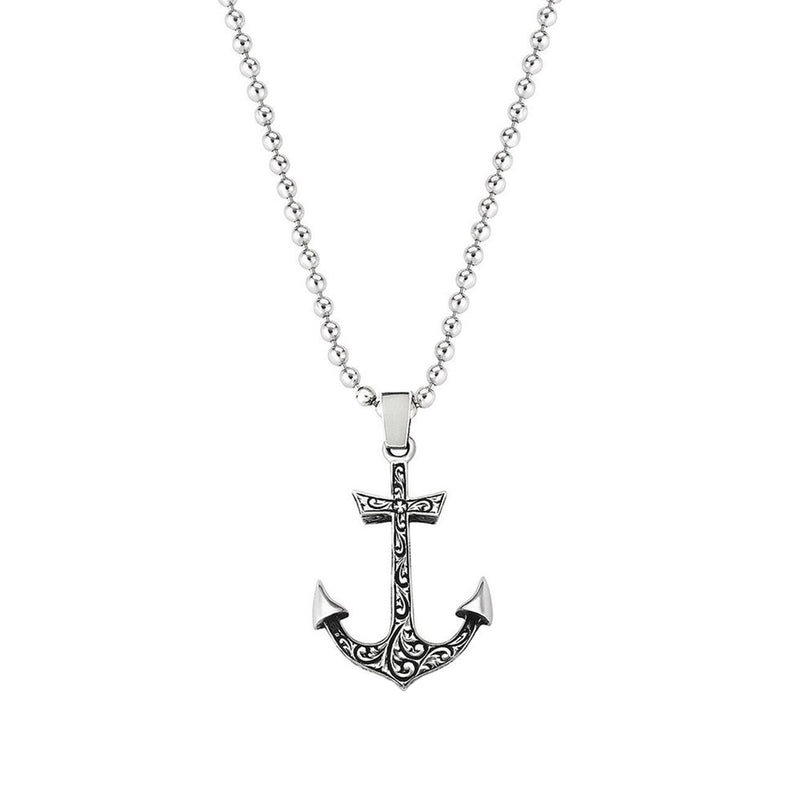 Classic Anchor Necklace with Chain