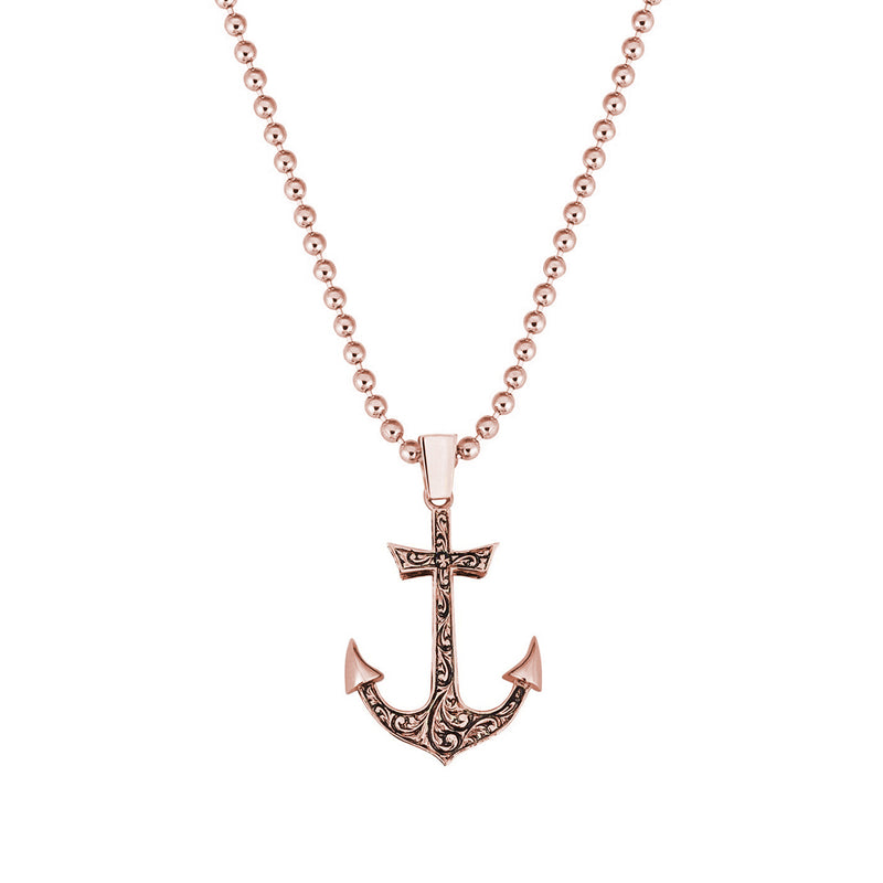 Classic Anchor Necklace - Solid Gold