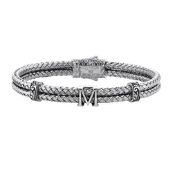 Women's Personalised Bangle Bracelet - Silver
