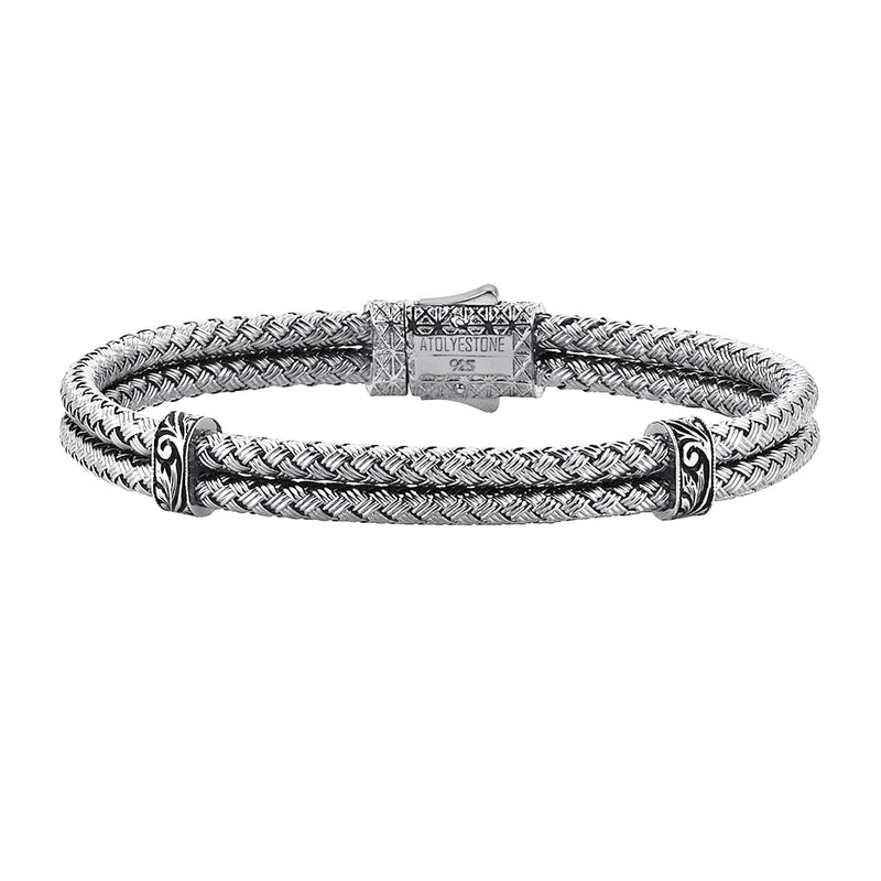 Mens Classic Bangle - Solid Silver