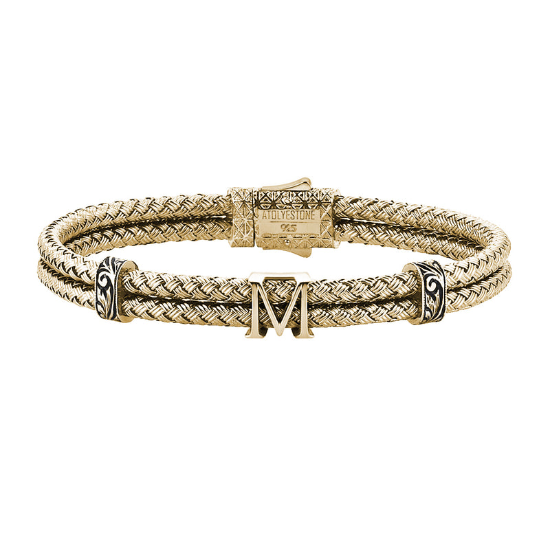 Women's Statements Bangle Bracelet - Yellow Gold