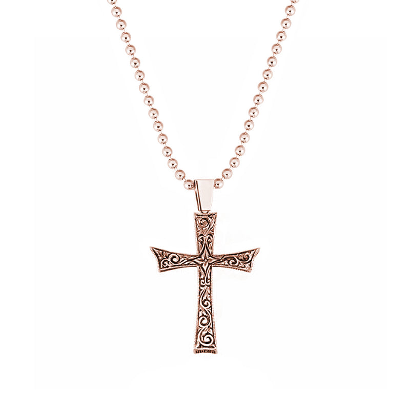 14k Cross Necklace - Solid Gold