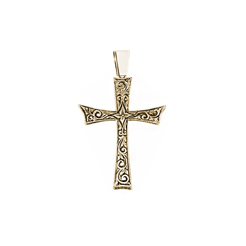 18k Solid Gold Cross Necklace