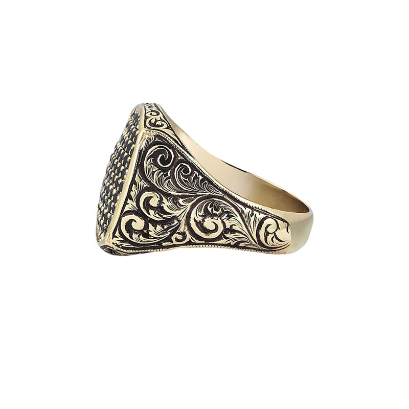 Mens Classic Cushion Pave Ring by Atolyestone