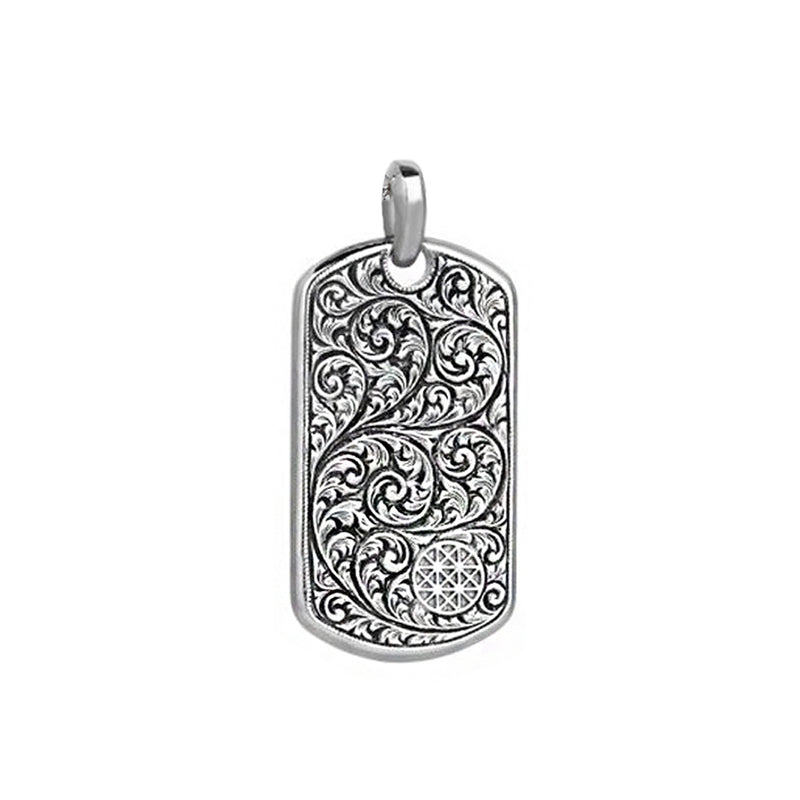 Mens Soldier Tag Necklace - Solid Silver