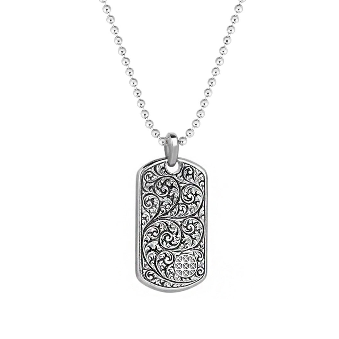 Classic Soldier Tag Necklace - Solid Silver
