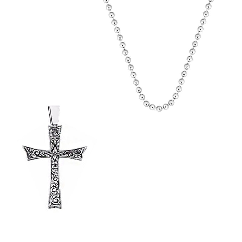 Cross Necklace Charm With Chain