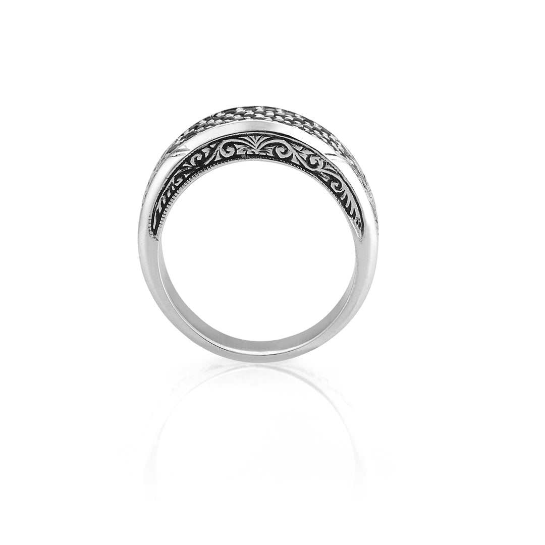Classic Pave Signet Ring - Solid Silver
