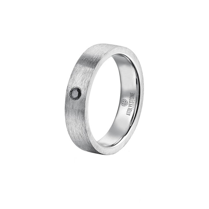 Mens Diamond Coyote Buttes Ring - Solid Silver
