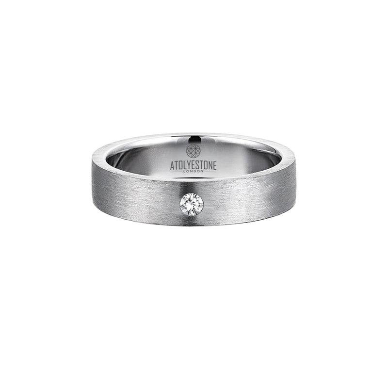 Diamond Coyote Buttes Ring - Silver - White Diamond - 5mm