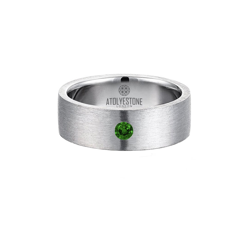 Diamond Coyote Buttes Ring - Silver - Emerald - 7mm