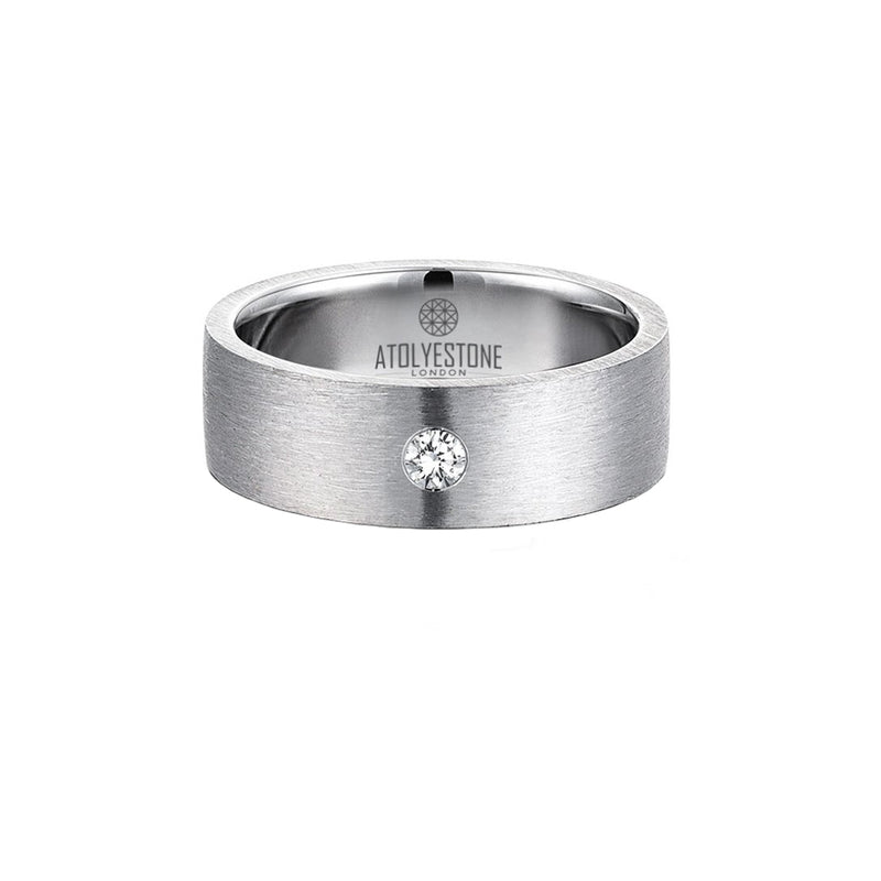 Diamond Coyote Buttes Ring - Silver - White Diamond - 7mm
