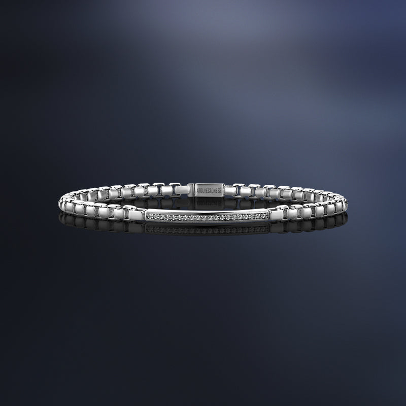 Mens Diamond Chain Bracelet