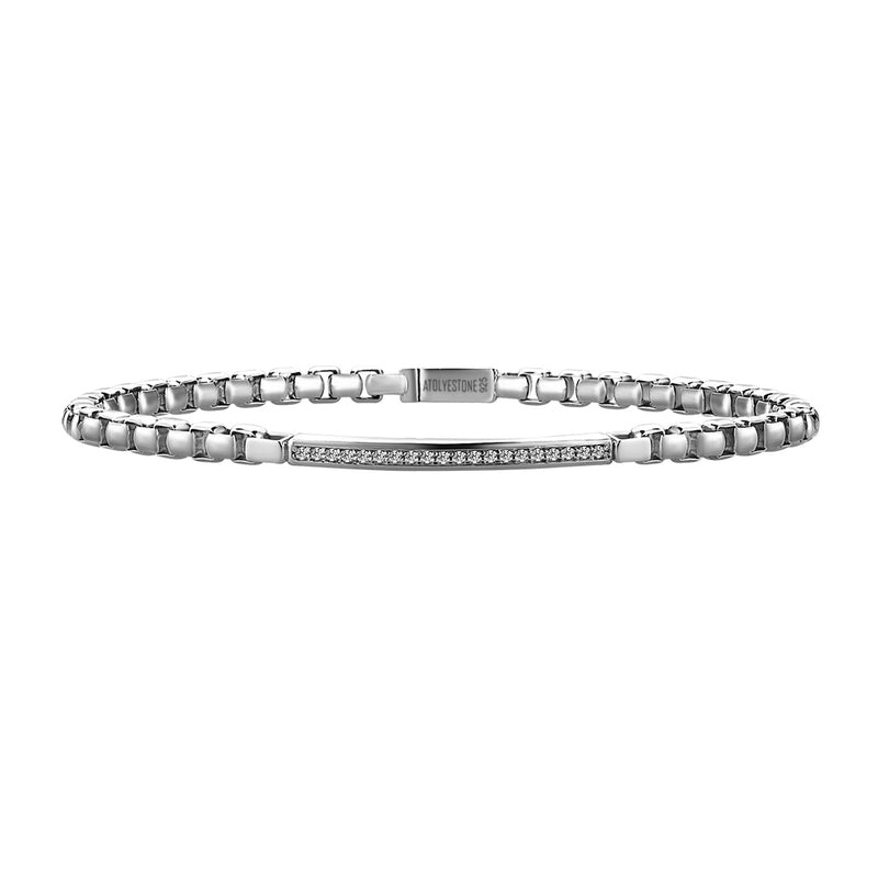 Diamond Box Chain Bracelet