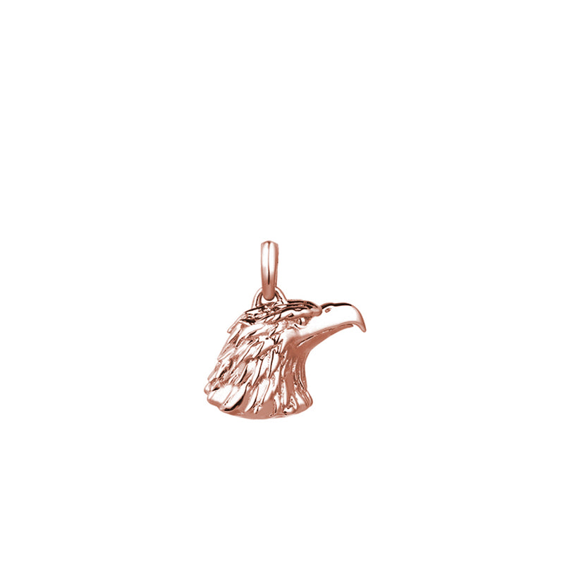 Eagle Charm Necklace - Solid Gold