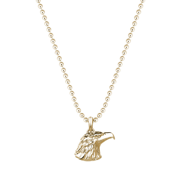 Eagle Charm Necklace - Yellow Gold