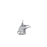 Mens Eagle Charm Necklace - Solid Silver
