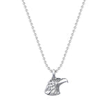 Eagle Charm Necklace - Solid Silver