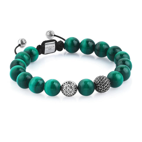 Premium Malachite Apex Beaded Bracelet