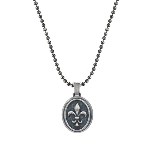 Mens Fleur de Lis Necklace With Chain