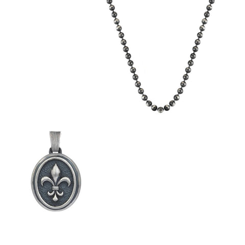 Classic Cross Necklace  - Carved Silver (Pendant only)