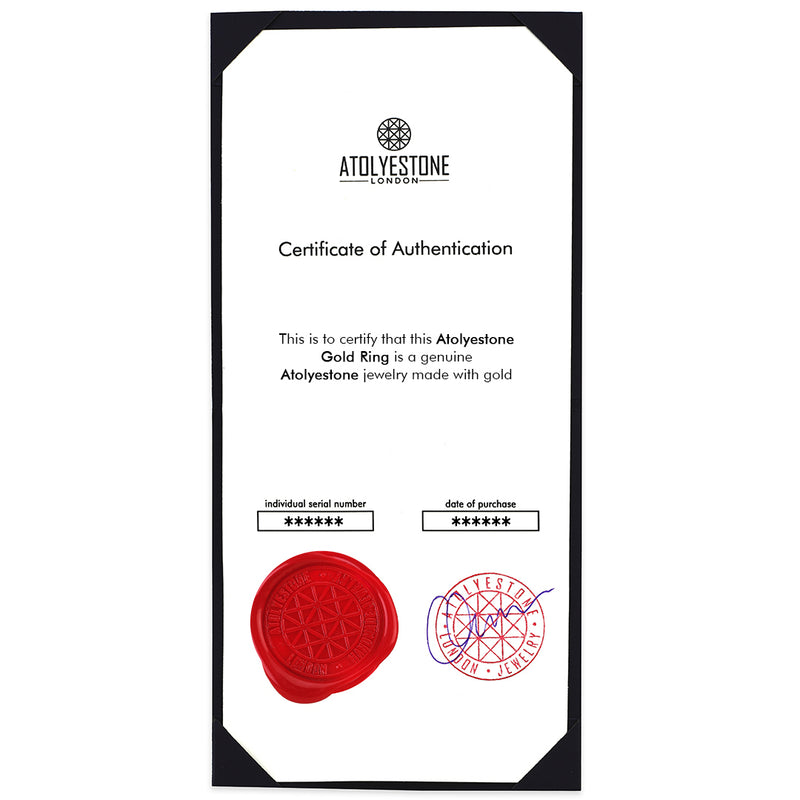 Atolyestone Gold Ring Certificate