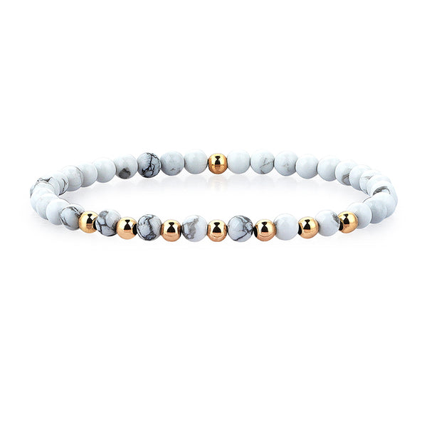 Premium Minimalist Beaded Bracelets for Men - Howlite