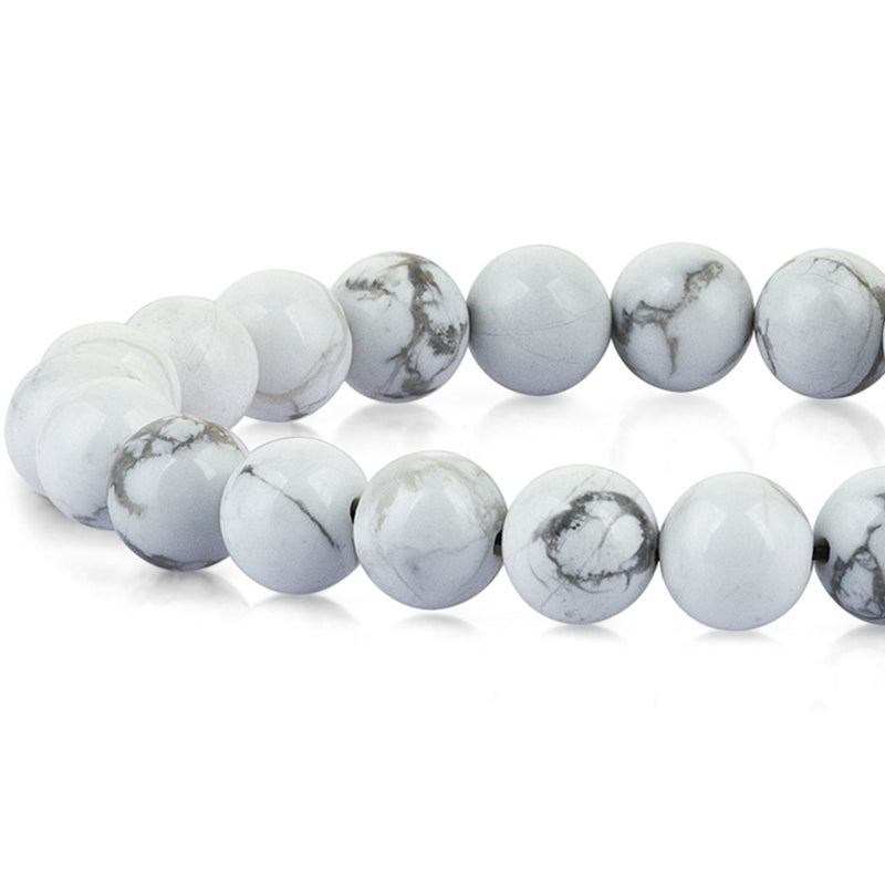 Howlite Mens Beaded Bracelet