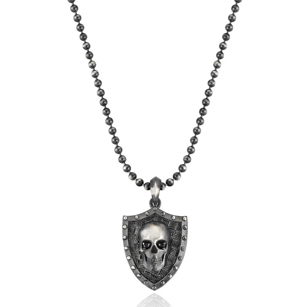 Vanguard Skull Necklace - Silver