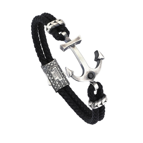 Statements Anchor Bangle  - Silver