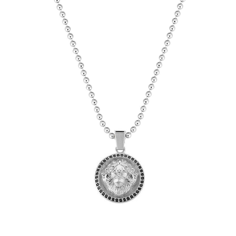 Leo Necklace - White Gold for Men