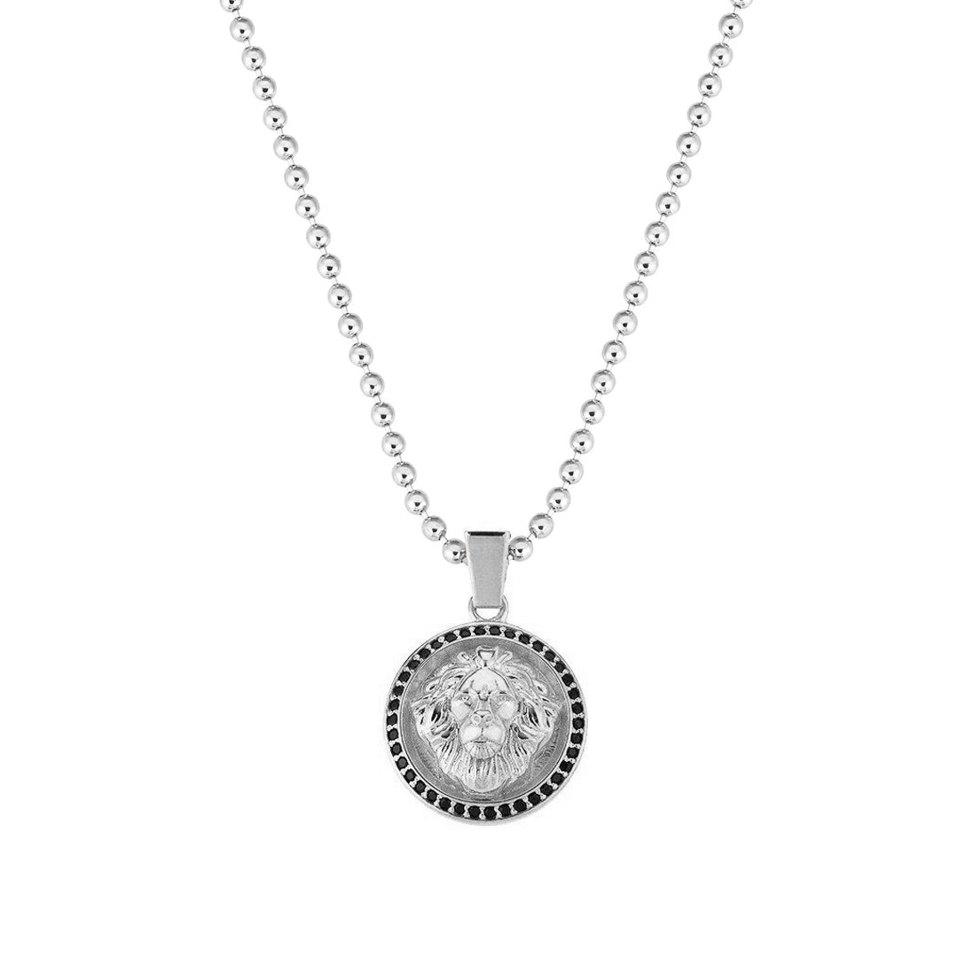 Mens Leo Necklace - Solid Silver