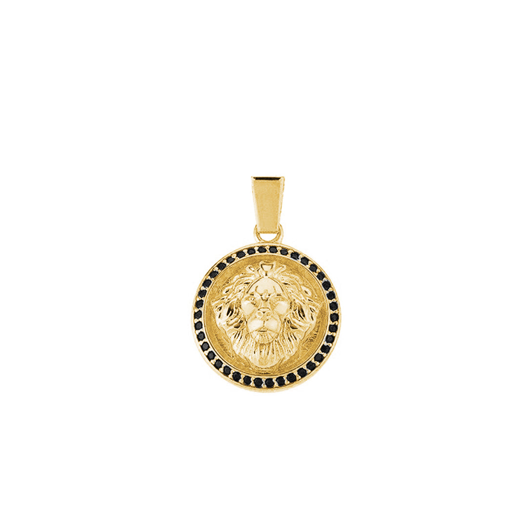 Leo Necklace - Solid Silver - Yellow Gold