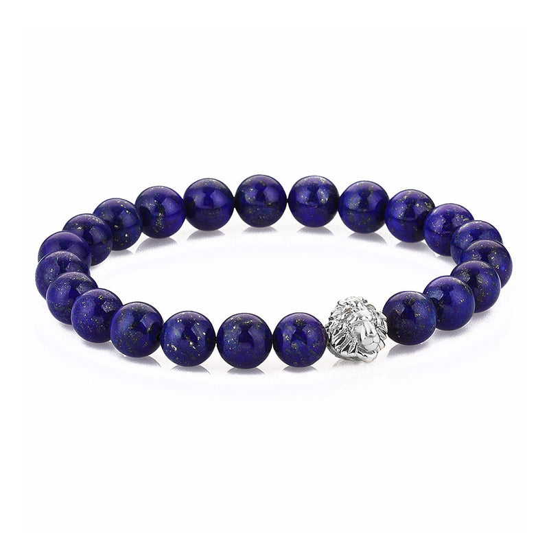 Exclusive Leo Beaded Bracelets - Silver - Lapis Lazuli