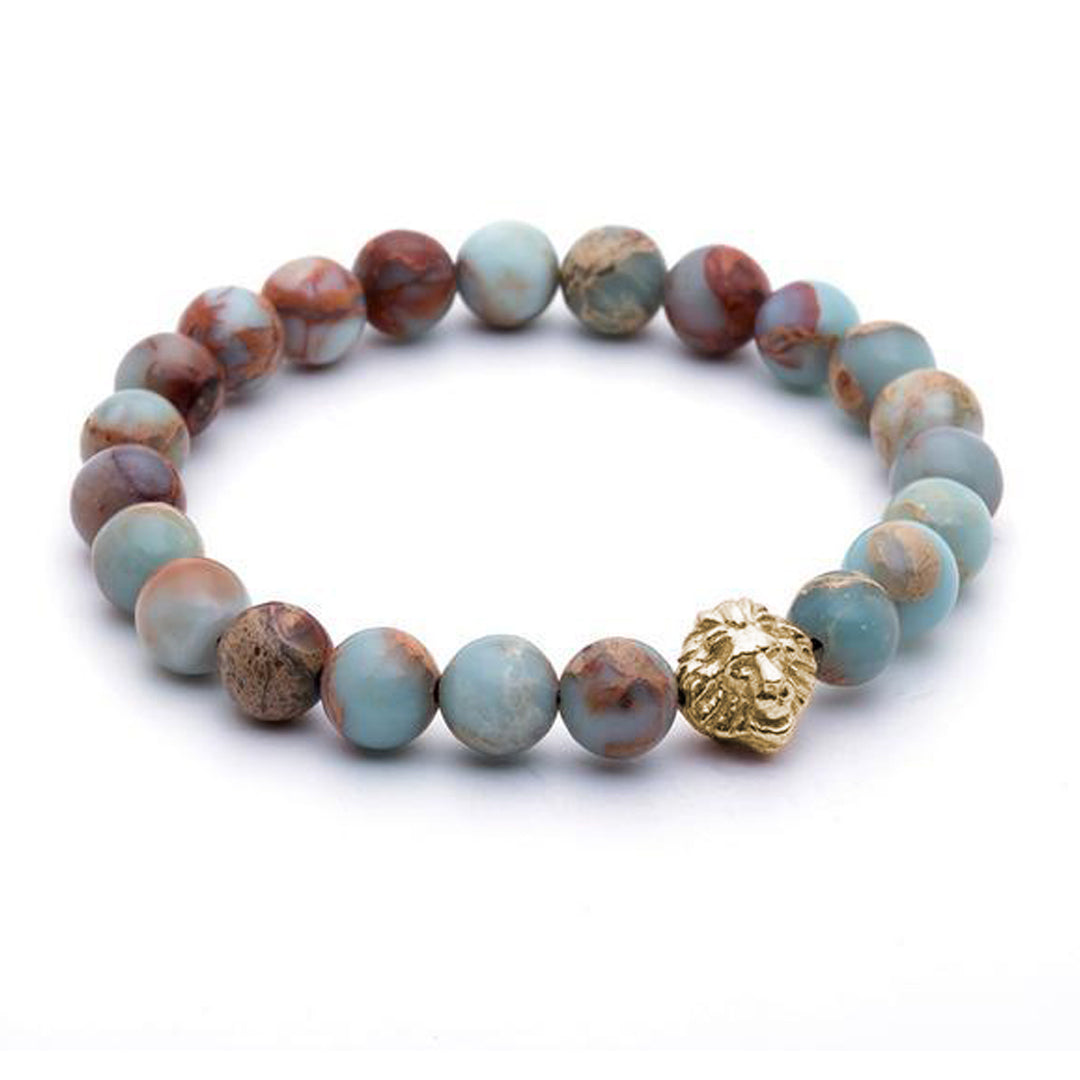 Leo Beaded Bracelets - Yellow Gold - Aqua Terra