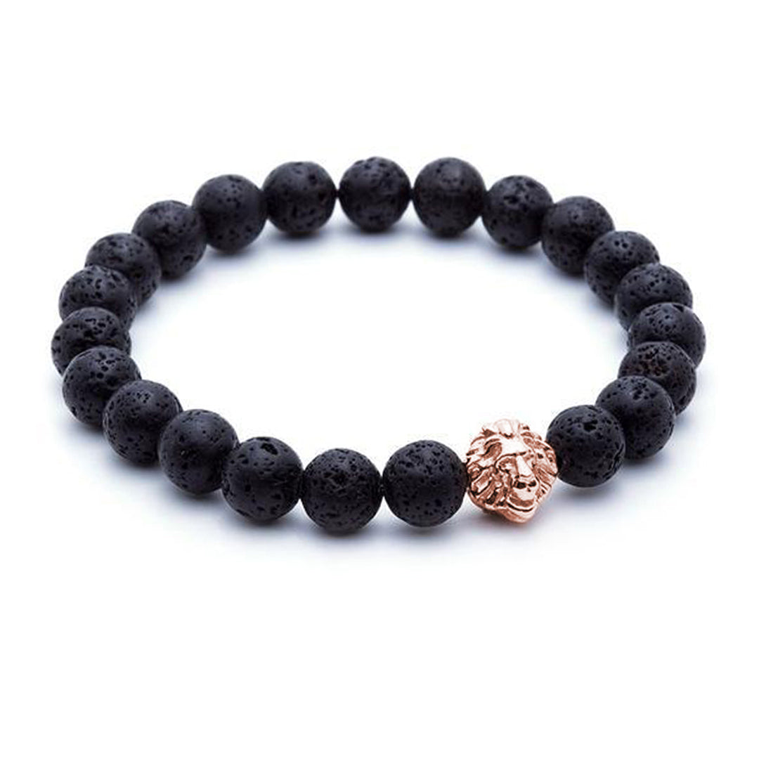 Leo Beaded Bracelets - Rose Gold - Lavastone